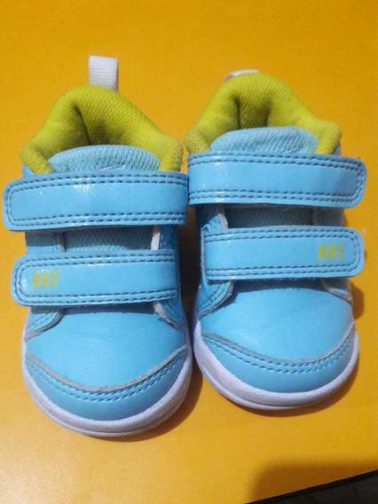 Liquido! Zapatillas Nike De Bebe Talle 17 Usado Buen Estado
