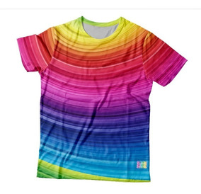 Camiseta Estampa Total Lgbt - Rainbow Curvas (sublimação)
