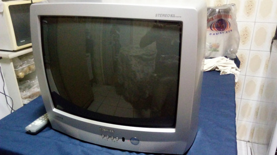 Tv Toshiba Stereo Lumina Line Televisor Linda Com Controle