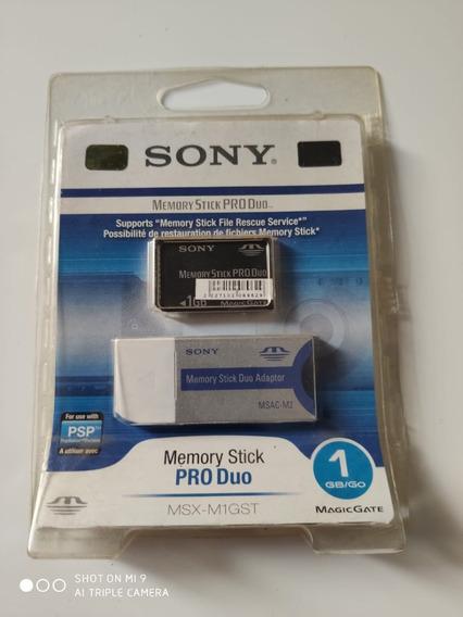Cartão De Memória Sony Msx-m1gst Memory Stick Pro Duo 1g
