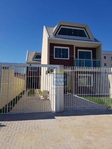 Sobrado Com 3 Dormitórios À Venda, 127 M² Por R$ 500.000,00 - Fazendinha - Curitiba/pr - So0368