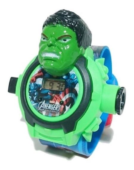 Kit 10 Relógio Infantil Com Projetor De Imagem Vingadores