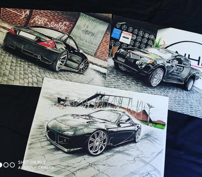 Ilustrações Automotivas - Desenhos A Mão