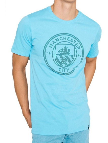 Playera Atletica Manchester City Crest Hombre Nike Nk195