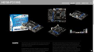 Intel Core I3 3220 3.30hz + Msi H61m-p31/w8