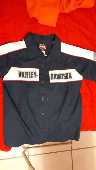 Camisa De Niño Marca Harley Davidson-perfecto Estado