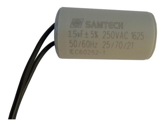 Capacitor 15uf 250vac 50/60 Hz Para Motor Gatter Peccinin