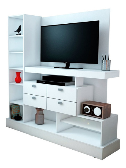 Modular Rack Tv 126 Mosconi Mueble Para Tv / Led 55