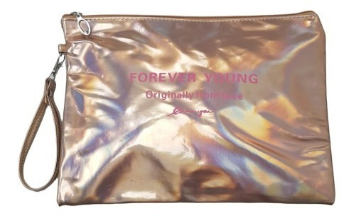 Exclusiva Cartera Sobre Forever Young Mod Envel Tornasolado