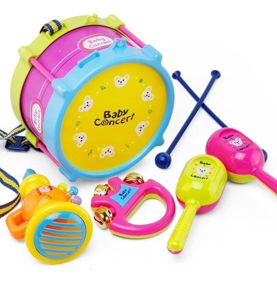 Juego De 5 Piezas Para Niños, Batería De Tambor, Instrumento