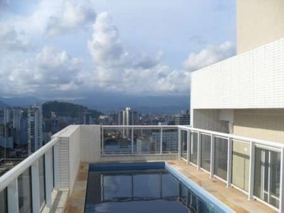Venda Cobertura Com 4 Dorms No Gonzaga. Santos Brasil - Ref 764748