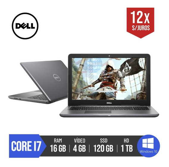 Notebook Dell Gamer Core I7 16gb Ram 120gb Ssd 4gb R7 Radeon