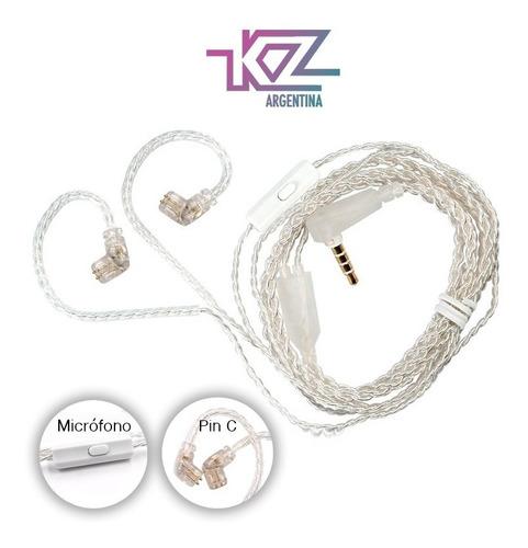 Imagen 1 de 6 de Cable Kz Premium De Plata Sin Oxigeno Con Microfono Original