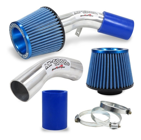 Kit Air Cool Filtro Esportivo Corsa Wind 93 94 95 96 97 Azul