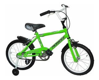 Bicicletas Bmx Rdo 14 Varón Con Rueditas-pioneer- Ind. Arg.