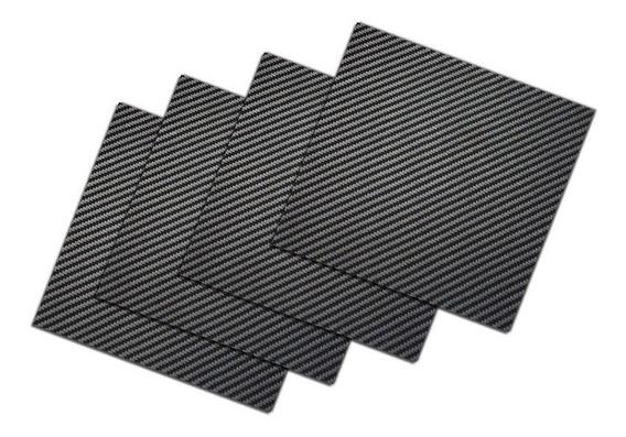 Placa Chapa De Fibra De 100% Carbono 20x30cm X 1mm