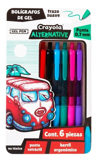 Boligrafos De Gel, Crayola Alternative 6pz