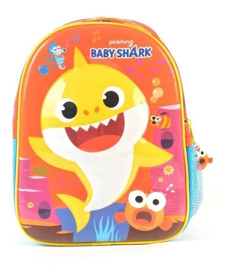 Mochila Espalda 11p Baby Shark Wabro 91372 Sonido Educando