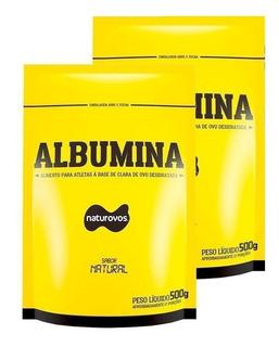 Kit C/ 2 Albumina Naturovos 100% Pura Natural