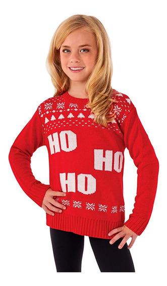 Suéter Feo Navidad Xmas Ugly Sweater Niña Ho 5/7 8/10 Años