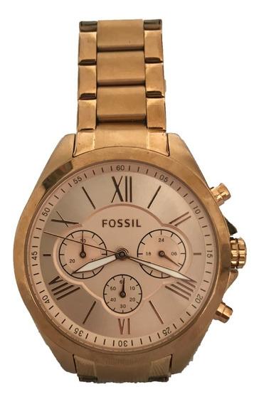 Relógio Original Fossil Feminino Bq1745 Dourado Importado