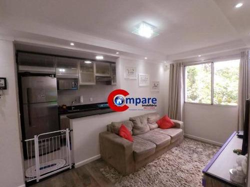 Apartamento Com 2 Dormitórios À Venda, 47 M² Por R$ 215.000 - Jardim Adriana - Guarulhos/sp - Ap9719