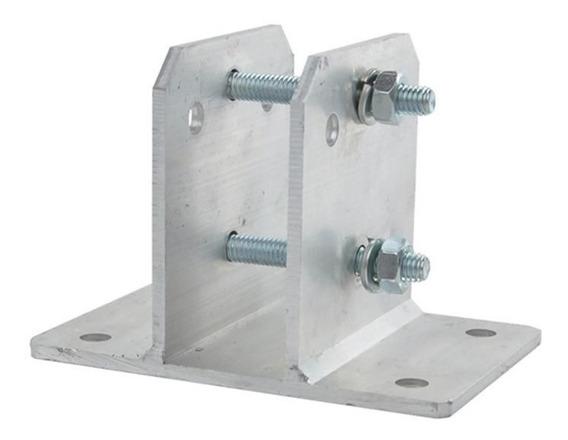 Kit 50 Suportes Em Alumínio Haste Cerca Elétrica