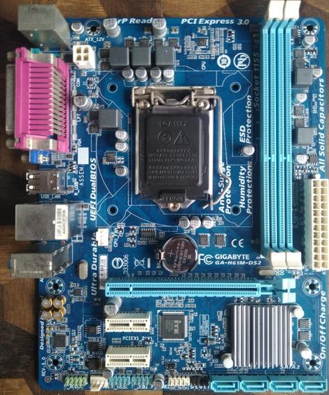 Placa Mãe Gigabyte Ga-h61m-ds2 Lga 1155 2ªe3ª Geração Intel