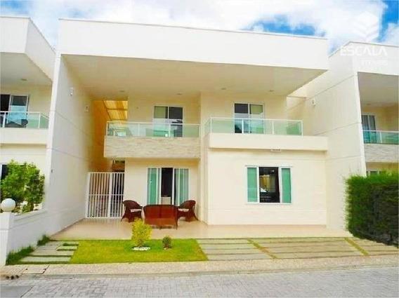 Casa Duplex Com 4 Quartos À Venda, 220 M², Condomínio Fechado Luciano Cavalcante - Fortaleza/ce - Ca0173