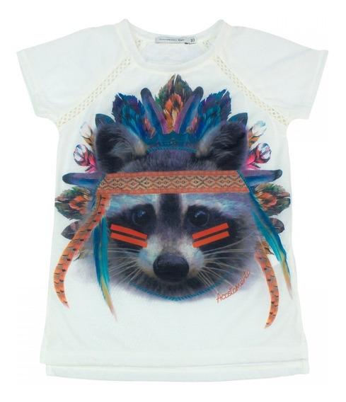 Camiseta Infantil Feminina Acostamento Fashion Estampada