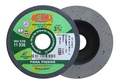 Copas Para Pulido Shellac3-5/32x1-3/4xm14- Austromex Aus1289