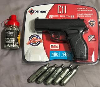 Crosman Pistola C11 + 5 Co2 + 1500 Bbs Envío Gratis Potente