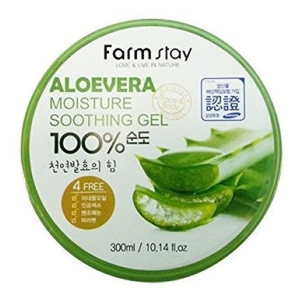 Farm Stay - Aloe Vera Gel Hidratante Calmante 300 Ml Para Ho