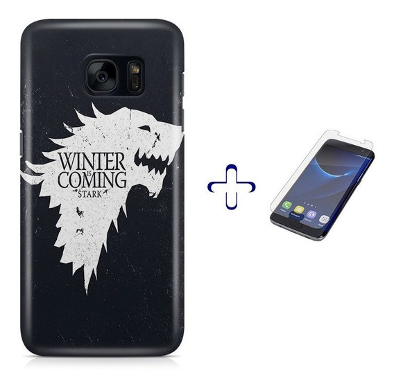 Kit Capa Galaxy S7 Game Of Thrones+pel.vidro Bd1
