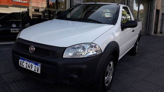 Fiat Strada Working 1.4 Cabina Simple Año 2018 Color Blanco