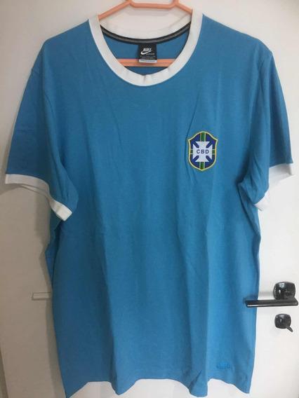 Camisa Retrô Nike Cbd Azul Com O 10 Costurado