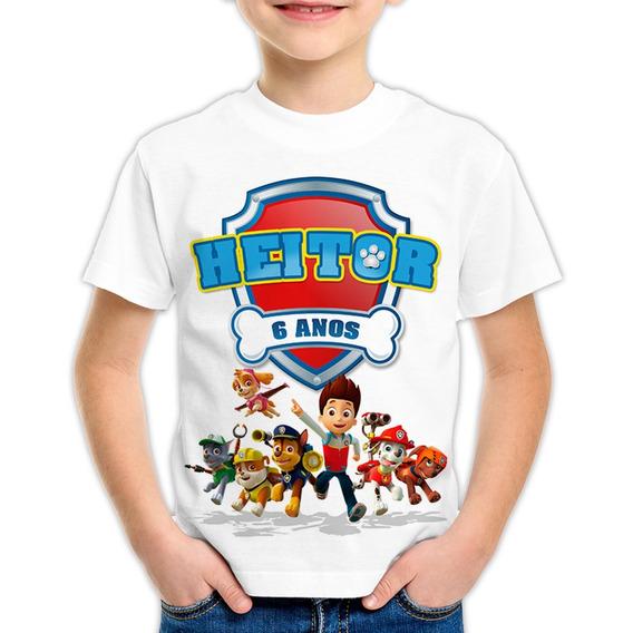 Camiseta Infantil - Adulta- Patrulha Canina Personalizada