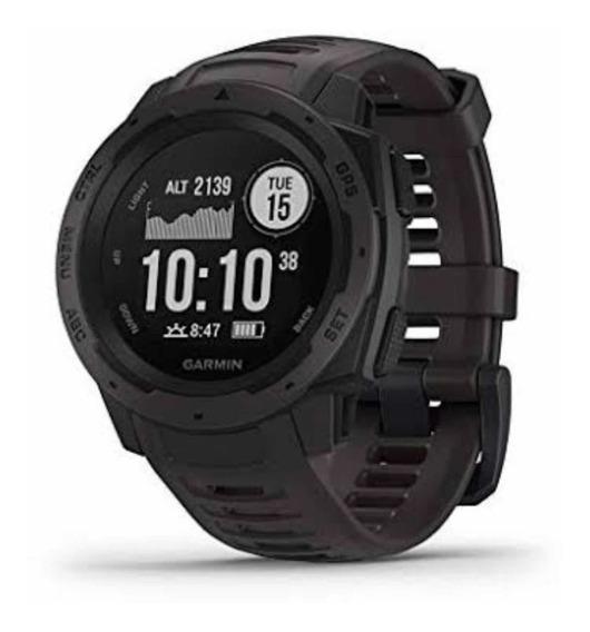 Relógio Garmin Instinct Com Gps E Monitor Cardíaco Graphite