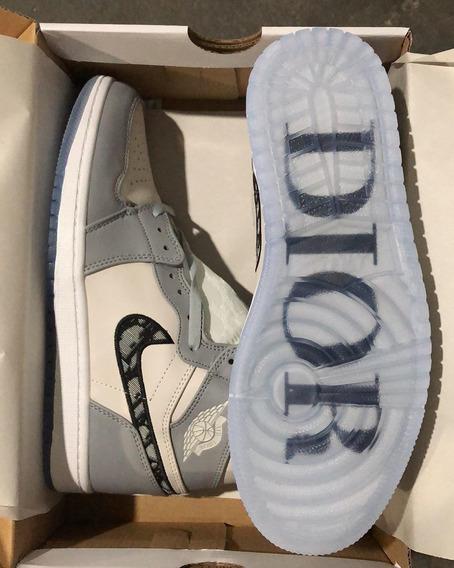 Tênis Air Jordan 1 X Dior -leia A Descrição-