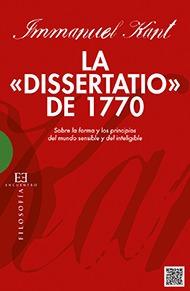 La Dissertatio De 1770, Immanuel Kant, Encuentro