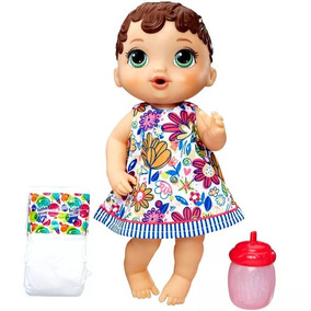Boneca Baby Alive Hora Do Xixi Morena Nova Hasbro - A0499