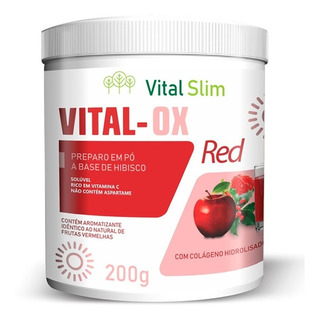 Vital Ox Slim Red Pó Solúvel Composto Detox
