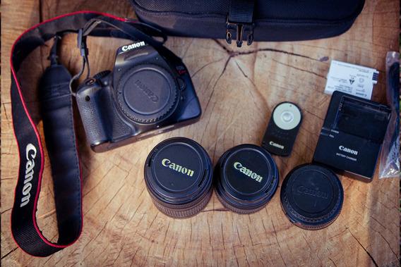 Rebel Eos Canon T2i + 3 Lentes - Cliques 13k