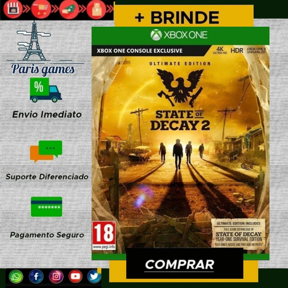 State Os Decay 2 Deluxe Edition Xbox One Mídia Digital