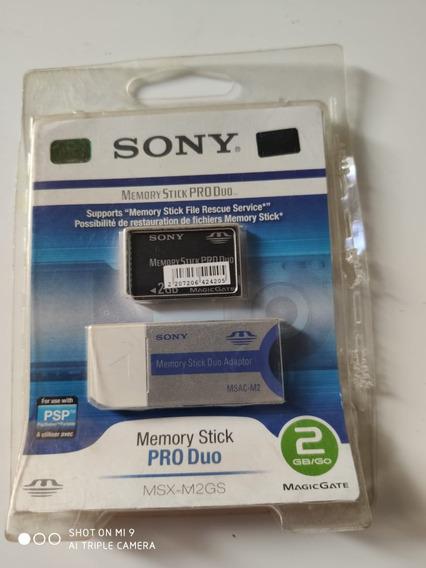 Cartão Memoria Sony Msx-m2gs - Memory Stick Pro Duo 2gb