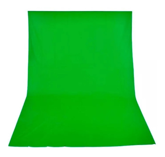 Fundo Infinito Algodão Muslin Cor Verde Cromakey 3m X 5m