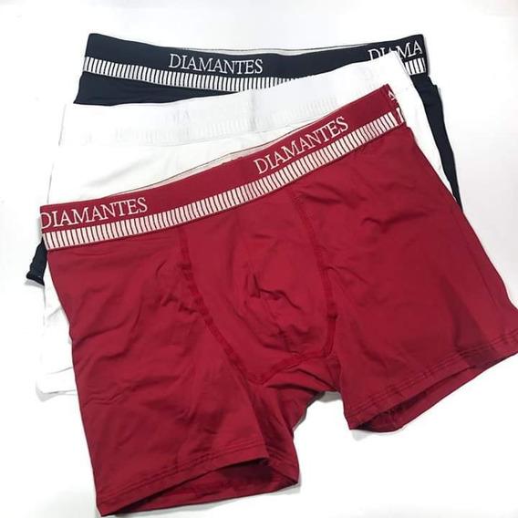 Combo 9 Cuecas Boxer Diamantes Lingerie