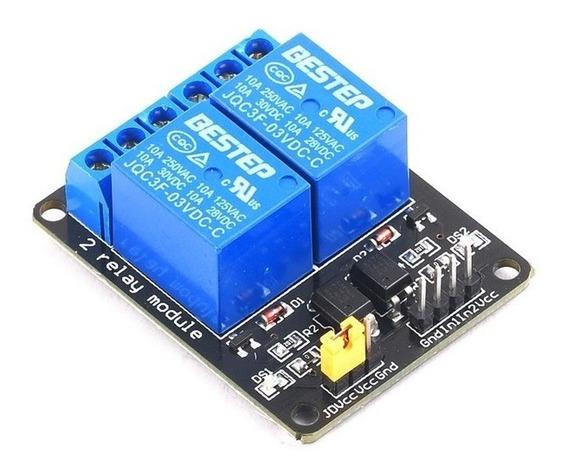 Módulo Relé 3v 3.3v 2 Canais Arduino Esp8266 Raspberry Wemos