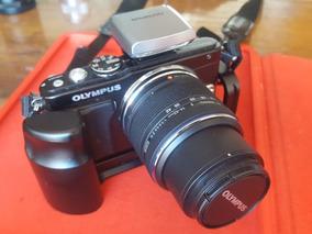 Câmera Olympus E-pl5 Com Grip E Lente 14-42mm