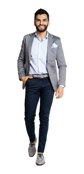 Trajes Ambos Hombre Slim Fit Y Camisa Zapato Cinto Y Pañuelo